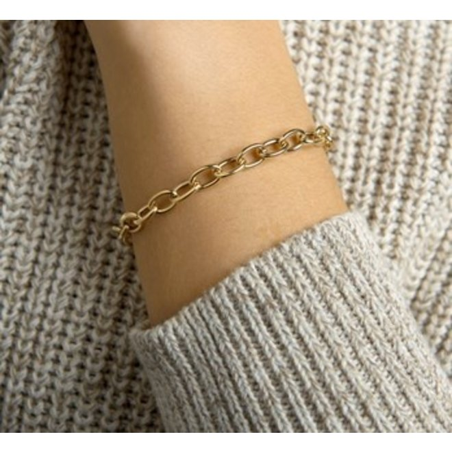 Geelgouden armband anker (40.22853)