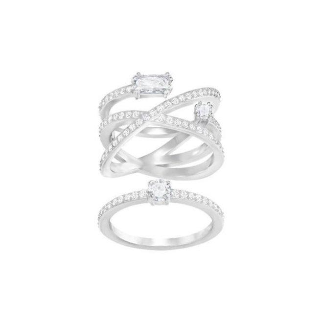 Swarovski 5294985 Gray Ring Set