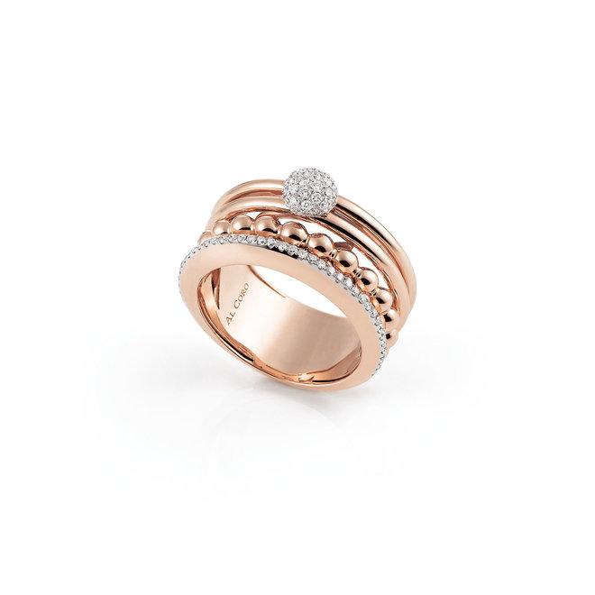Al Coro Palladio ring wit- en roségoud R7269R
