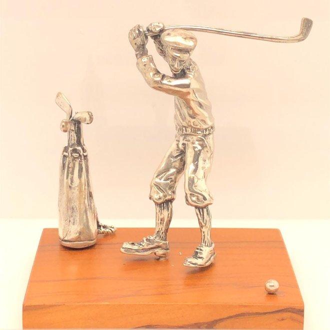 Zilveren miniatuur Golfer (81534)