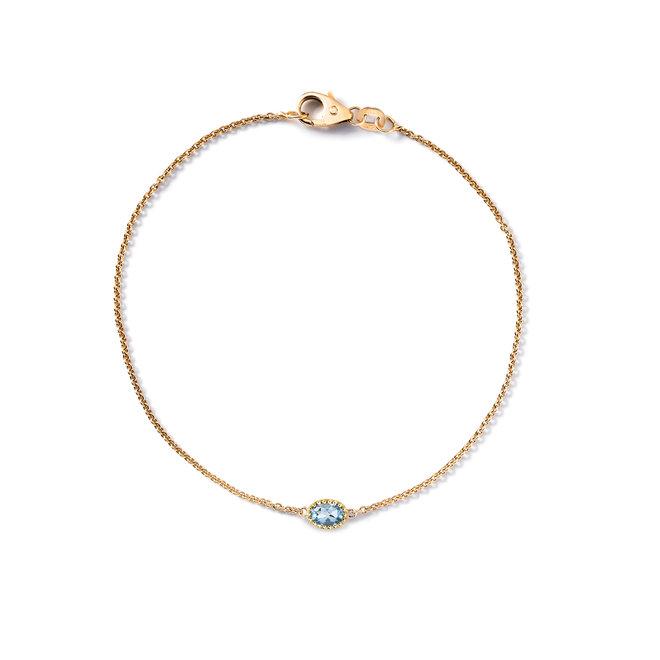 Miss Spring armband Ma Petite blauwe topaas MSA508BT-GG