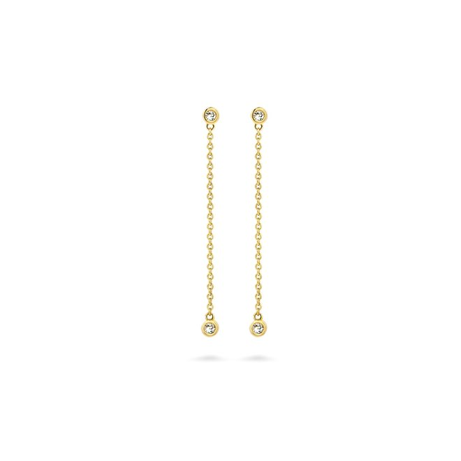 Miss Spring oorhangers Button Multi Diamant MSO602DI-GG