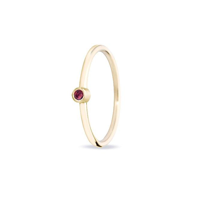 Miss Spring ring Button Robijn MSR024RO-GG