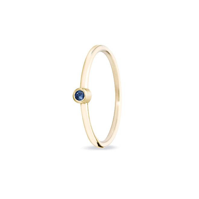 Miss Spring ring Button Saffier MSR024SA-GG