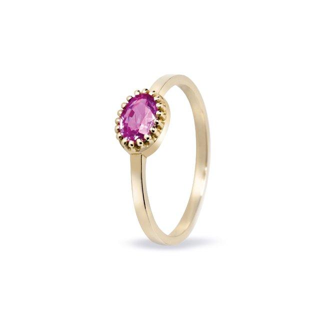 Miss Spring ring Ma Petite roze toermalijn  MSR510RT-GG