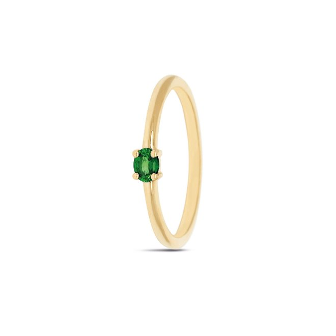 Miss Spring ring Brilliantly Ovaal smaragd MSR570GG-SM