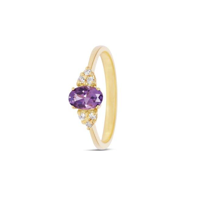 Miss Spring ring Hanna amethist MSR584GG-AM