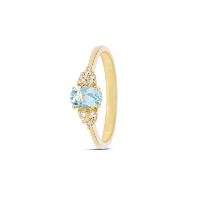 Miss Spring ring Hanna blauwe topaas MSR584GG-BT