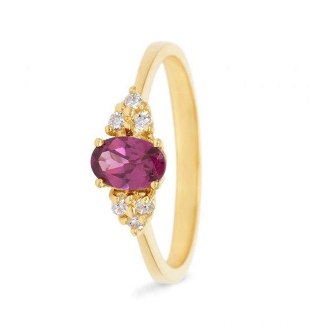 Miss Spring ring Hanna rhodoliet MSR584GG-RH