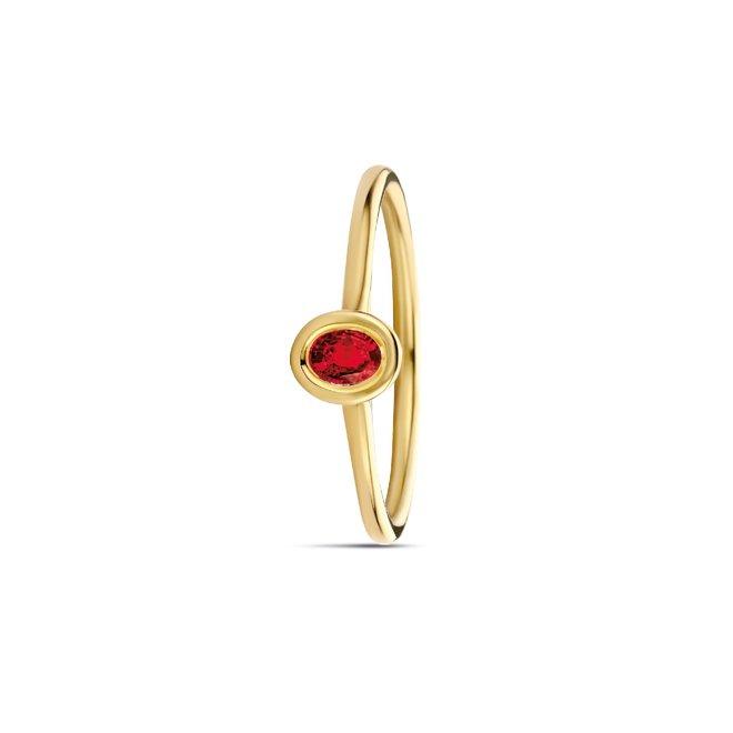 Miss Spring ring Brilliantly Bezel Ovaal robijn MSR614GG-RO