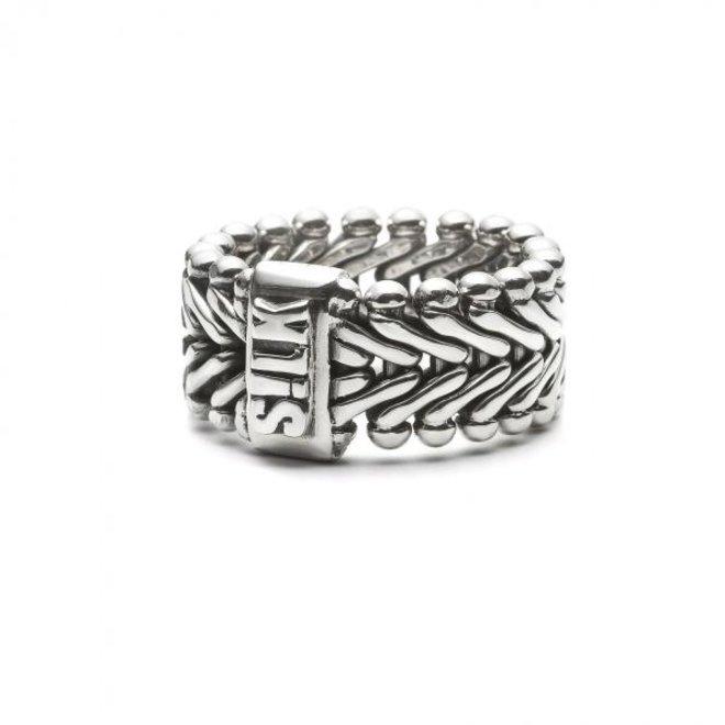 S!lk Jewellery ring CLASSIC CHEVRON 201