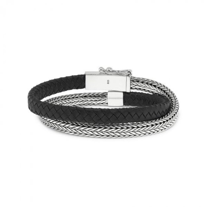 S!lk Jewellery armband ALPHA 344BLK