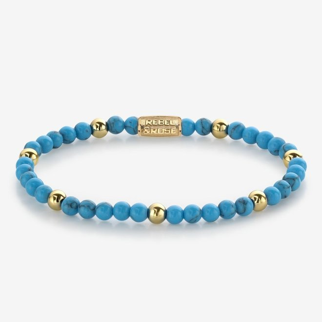 Rebel&Rose armband More Balls Than Most - Turquoise Delight 40059-G