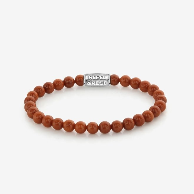 Rebel&Rose armband Stones Only - Red Coral 60039-S