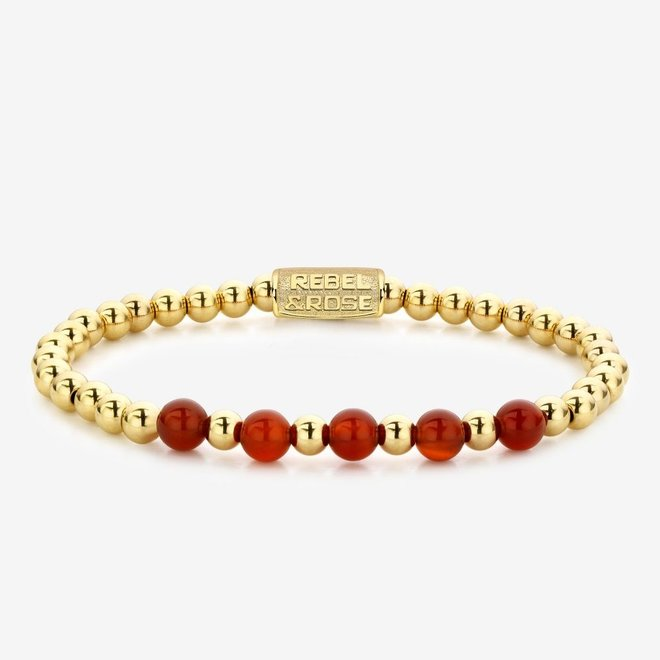 Rebel&Rose armband More Balls Than Most - Yellow Gold meets Amazing Grace 60064-G