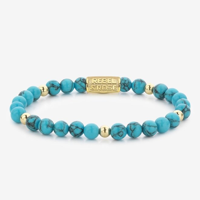Rebel&Rose armband More Balls Than Most - Turquoise Delight II 60071-G