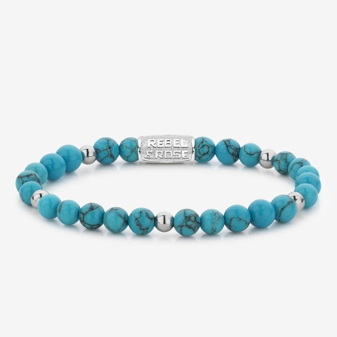 Rebel&Rose armband More Balls Than Most - Turquoise Delight II 60075-S