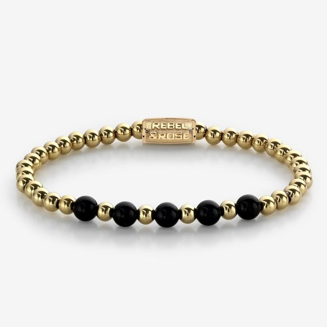 Rebel&Rose armband More Balls Than Most - Yellow Gold meets Black Madonna 60080-G