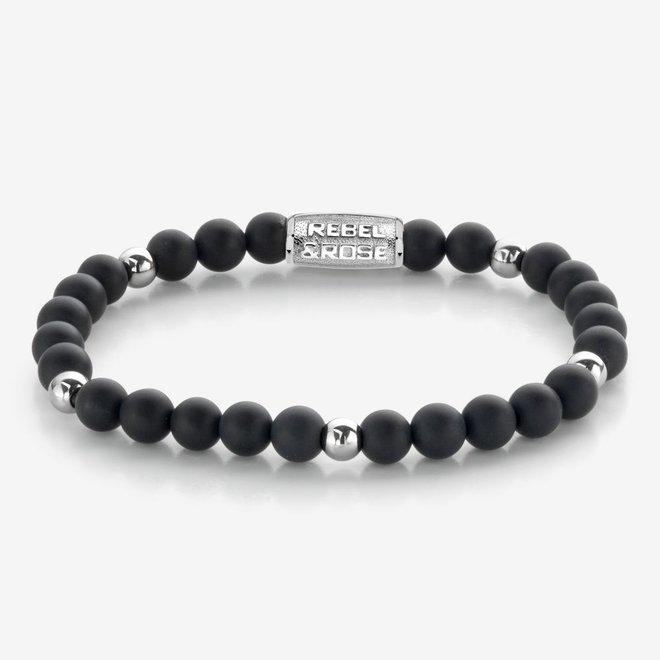 Rebel&Rose armband More Balls Than Most - Matt Black Madonna 60079-S