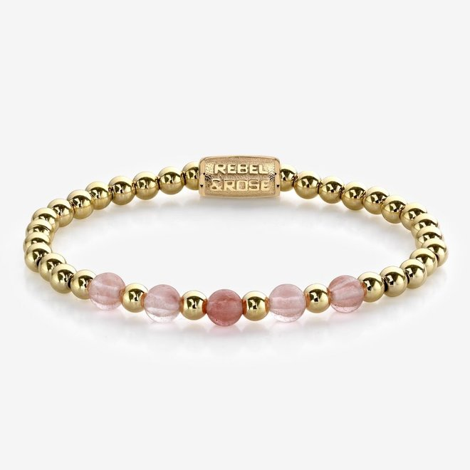 Rebel&Rose armband More Balls Than Most - Yellow Gold meets Cherry Rose 60081-G