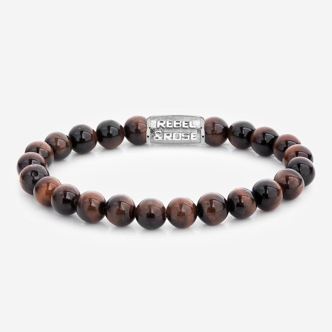 Rebel&Rose armband Stones Only - Tiger Red 80029-S