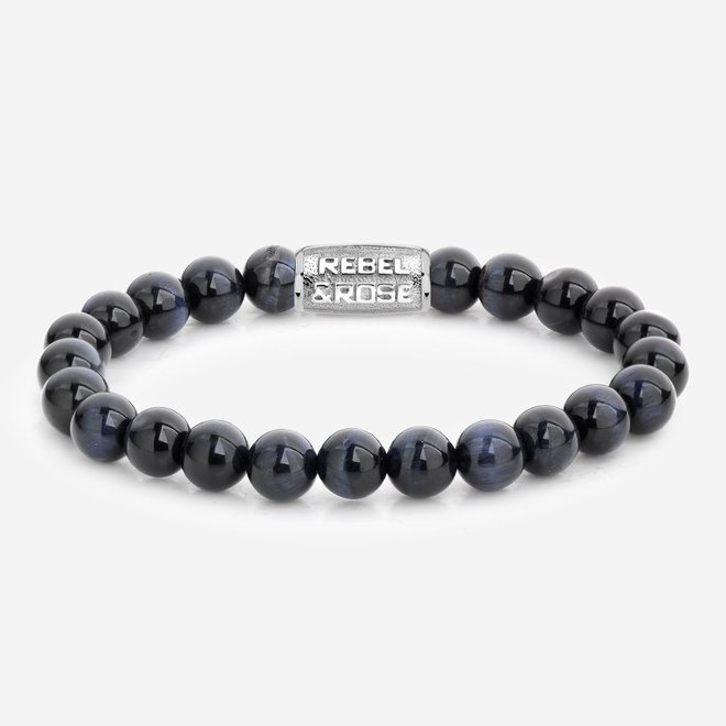 Rebel&Rose armband Stones Only - Tiger Blues 80039-S