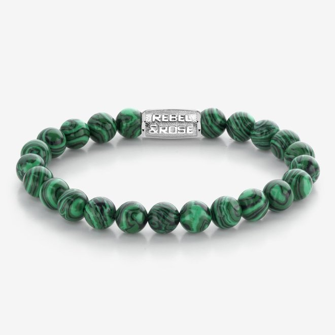 Rebel&Rose armband Stones Only - Malachite Green 80080-S