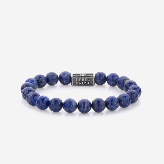Rebel&Rose armband Silverbead - Lapis Lazuli 925 8S002-S