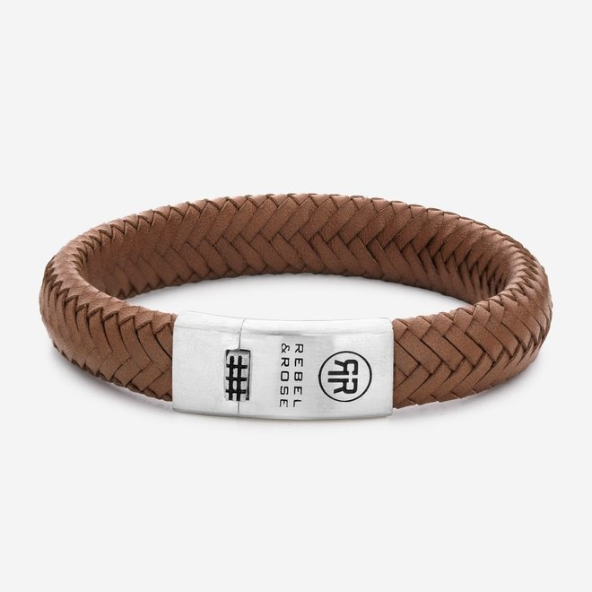 Rebel&Rose armband Braided Oval 925 - Handsome In Khaki L0088-S
