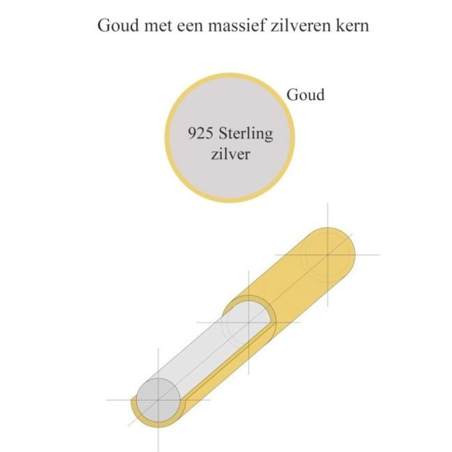 ZilGold armband dubbel gourmet 50.00122