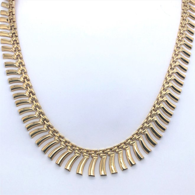 Geelgouden occasion pampel collier