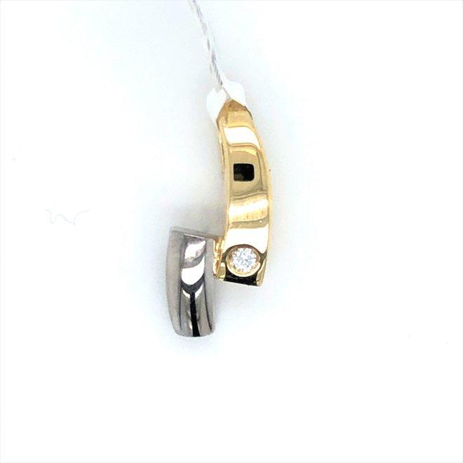 bicolor occasion hanger diamant