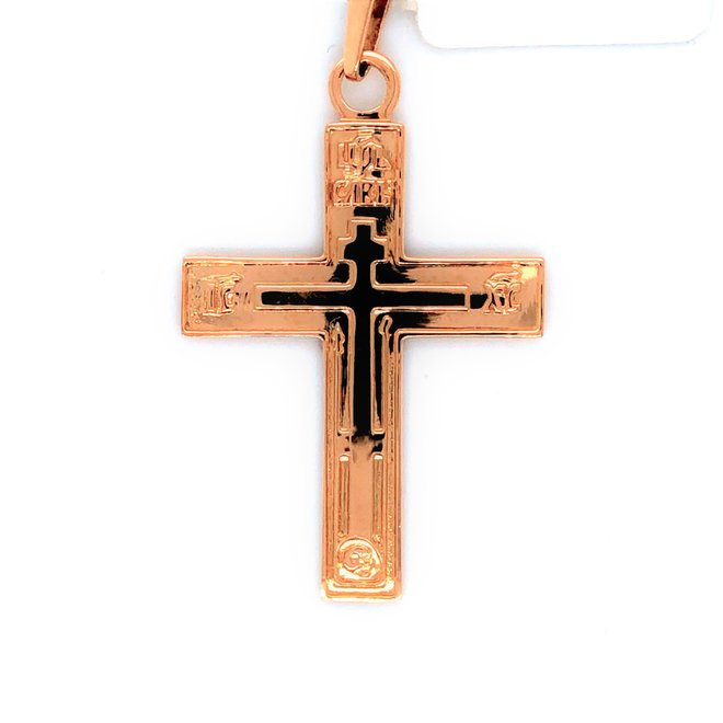 Roségouden occasion hanger kruis