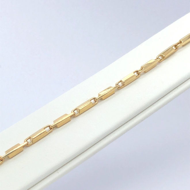 Geelgouden occasion armband massief