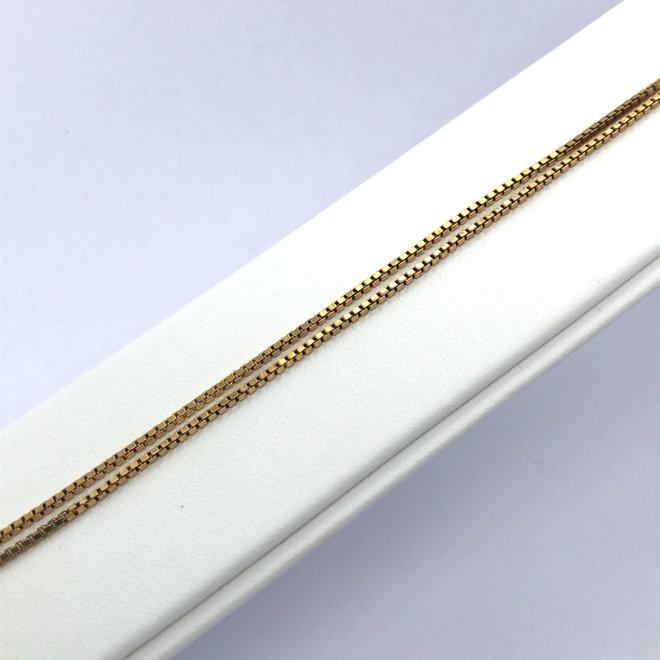 Geelgouden occasion armband venetiaans