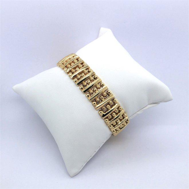 geelgouden occasion armband fantasie