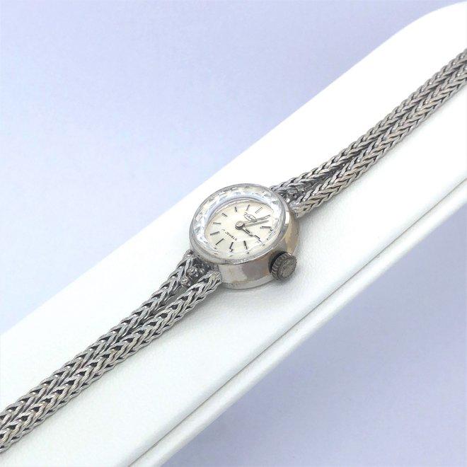Witgouden occasion Viking horloge met diamant
