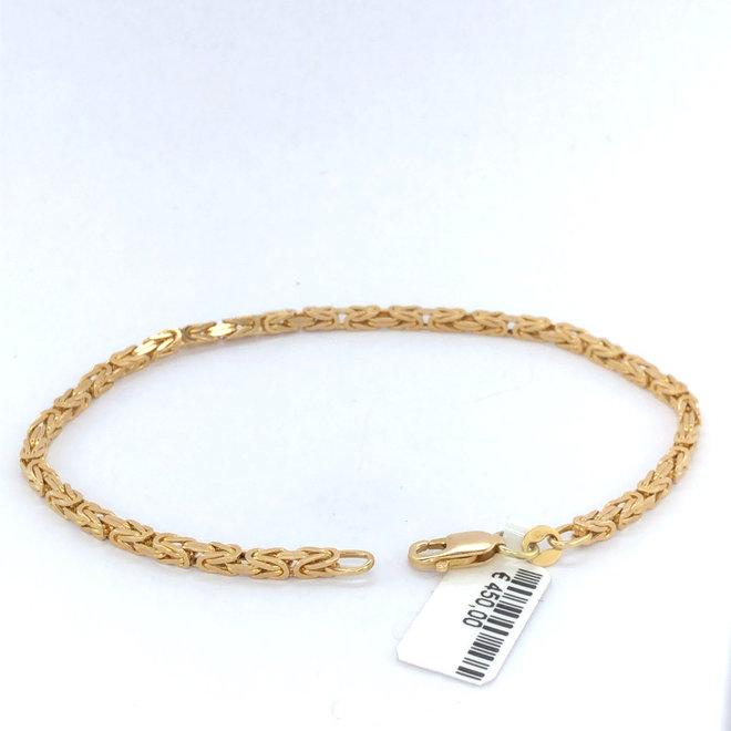 Geelgouden occasion armband Koningsschakel