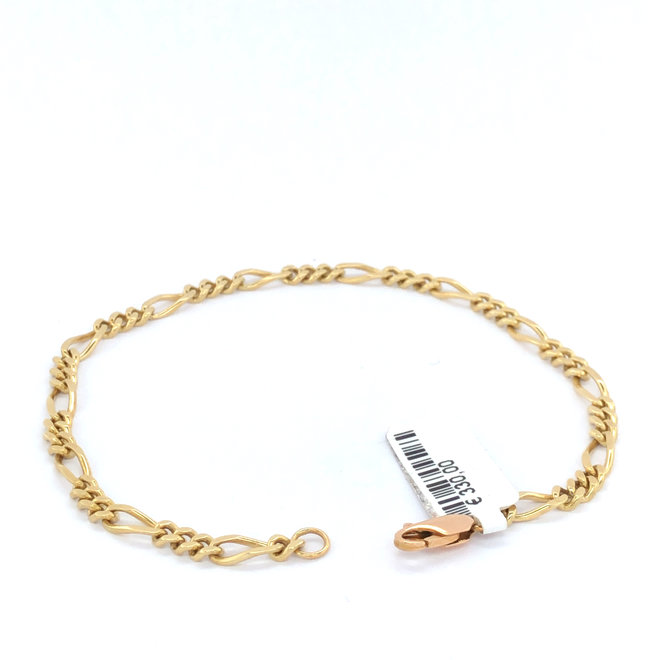 Geelgouden occasion armband figaro