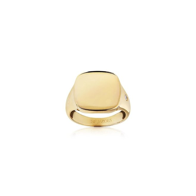 SSif Jakobs Follina Pianura Quadrato Piccolo ring SJ-R1071-CZ-YG/56