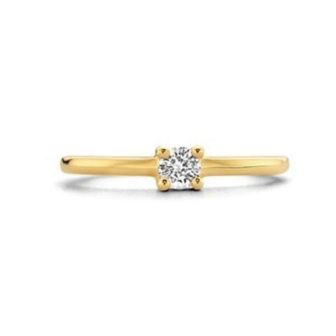 Gouden Essentials ring zirkonia (No. 52) 40.16751