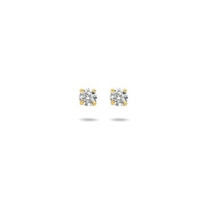 Gouden Essentials oorsieraad zirkonia (No. 46) 40.10146