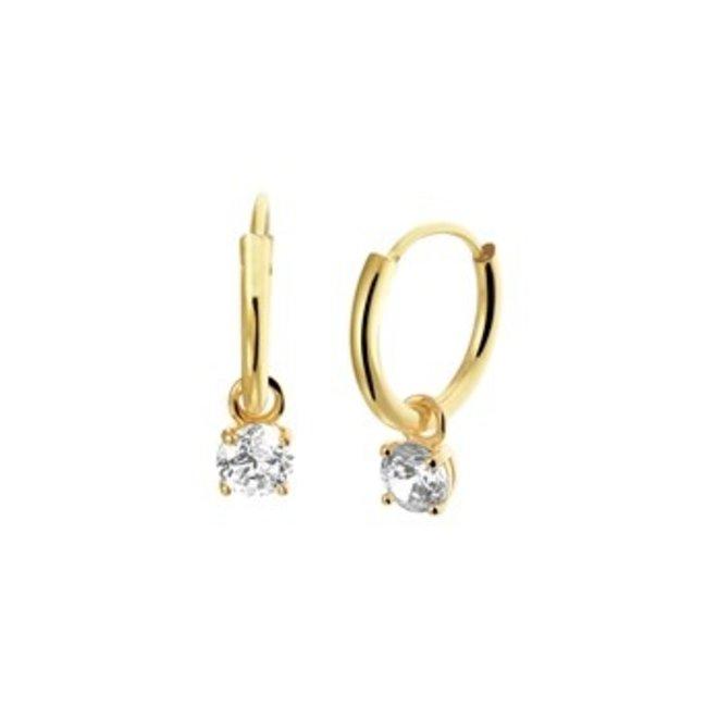 Gouden Essentials oorsieraad zirkonia (No. 51) 40.20130