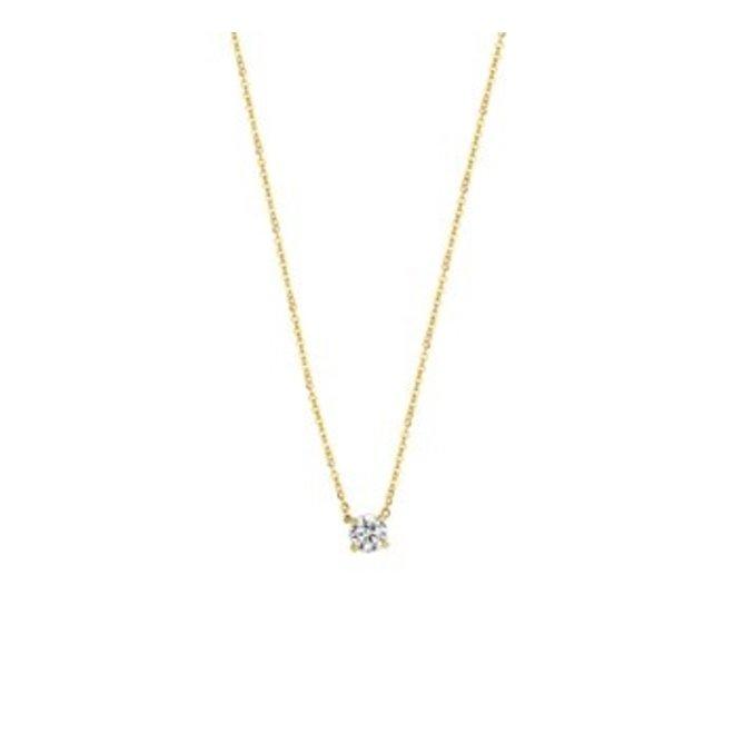 Gouden Essentials collier zirkonia (No. 47) 40.16260