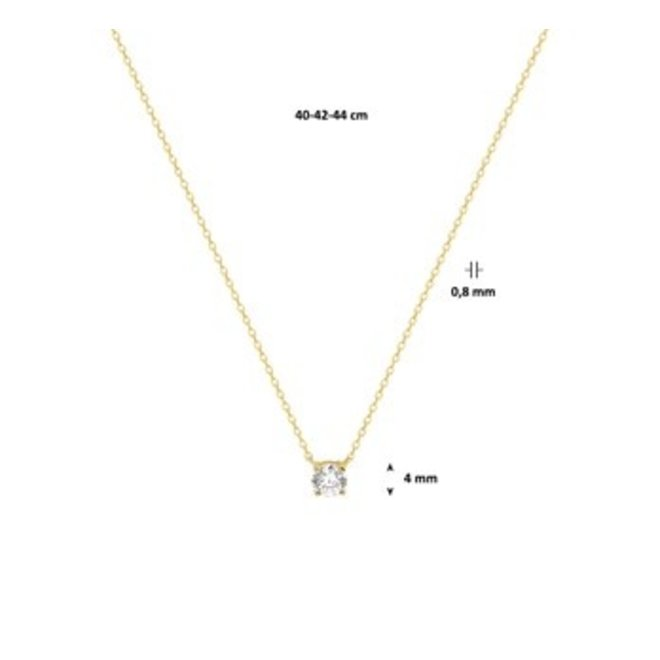 Gouden Essentials collier zirkonia (No. 47)40.16260