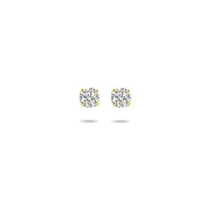 Gouden Essentials oorsieraad zirkonia (No. 48) 40.17287