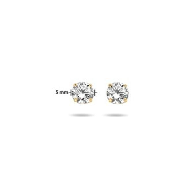 Gouden Essentials oorsieraad zirkonia (No. 49) 40.17292