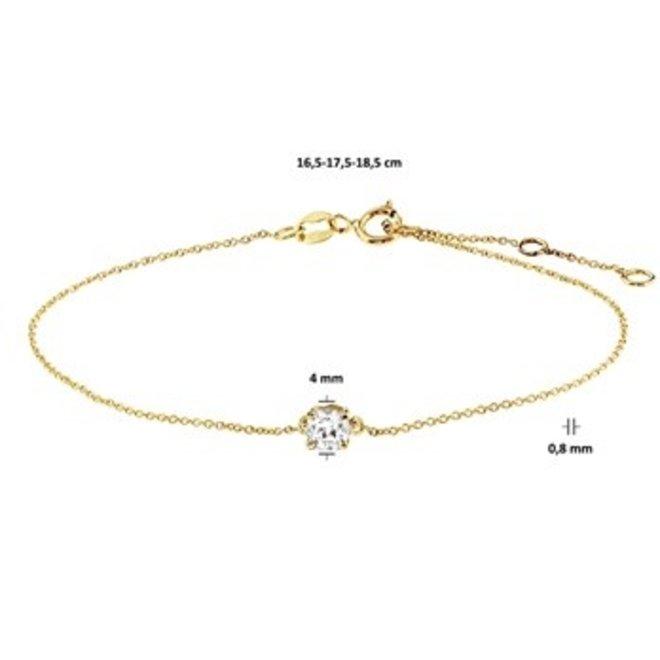 Gouden Essentials armband zirkonia (No. 44) 40.17991