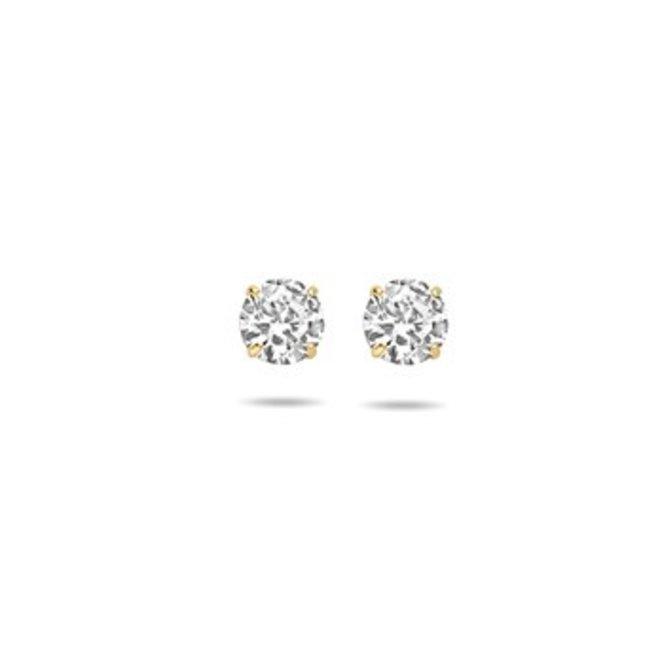 Gouden Essentials oorsieraad zirkonia (No. 50) 40.17294