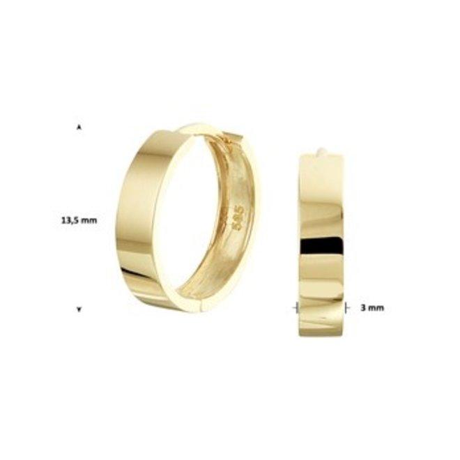 Gouden Essentials oorsieraad (No. 41) 40.20274
